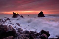 La fuerza del mar Imagen de archivo libre de regalías