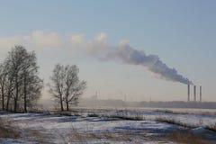 La fumée technique vient des tuyaux 008 photo libre de droits
