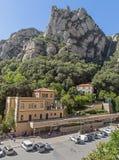 La funiculaire Santa Cova de la station De de Montserrat Photos libres de droits