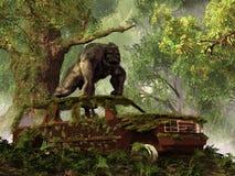 La furgoneta del gorila ilustración del vector
