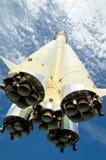 La fusée, montant dans le ciel Photo libre de droits