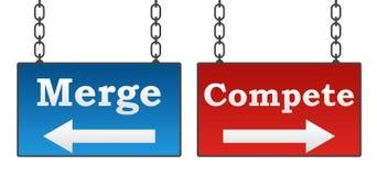 La fusion concurrencent enseigne illustration de vecteur