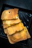 La fusione Fios de ovos Fried Roti del dessert e crema di Wipping Fotografia Stock Libera da Diritti