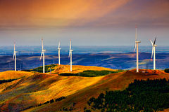 La génération d'énergie éolienne, Chine Image libre de droits