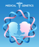 La génétique de médecine Photographie stock