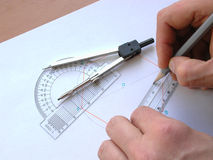 La géométrie Images stock