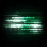 La géométrie dans le concept de technologie sur un fond vert-foncé Image stock