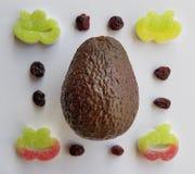 La géométrie de confiserie de raisins secs de mangue de nourriture Photographie stock