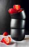 La géométrie de fraise Images stock