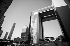 La géométrie de Hong Kong Photographie stock