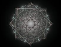 La géométrie de la série de l'espace Contexte visuellement attrayant illustration stock