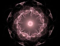 La géométrie de la série de l'espace Contexte visuellement attrayant fait de courbes conceptuelles de grilles et éléments de frac illustration de vecteur