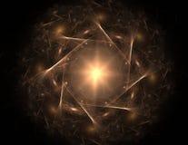 La géométrie de la série de l'espace Contexte visuellement attrayant fait de courbes conceptuelles de grilles et éléments de frac illustration stock