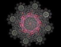La géométrie de la série de l'espace Contexte visuellement attrayant fait de courbes conceptuelles de grilles et éléments de frac illustration libre de droits