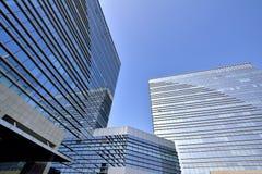 La géométrie des bâtiments modernes Images libres de droits