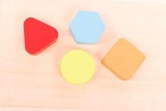 La géométrie en bois de couleur Images libres de droits