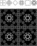 La géométrie noire de papier peint Images libres de droits