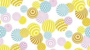La géométrie pâle de couleur d'été moderne illustration libre de droits