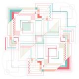 La géométrie sacrée, d'alchimie et d'espace Images stock