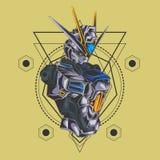 La géométrie sacrée de combattant de Gundam illustration libre de droits