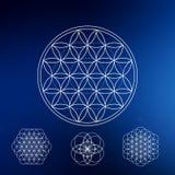 La géométrie sacrée Symboles et éléments de hippie Images stock
