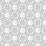 La géométrie sans couture de triangle de croix d'étoile d'octagonn du fond 395 d'art de coupe du livre blanc 3D Photographie stock libre de droits