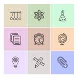 la géométrie, la science, éducation, études, icônes d'ENV a placé le vecteur illustration stock