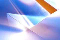 La géométrie transparente de lumières Images stock