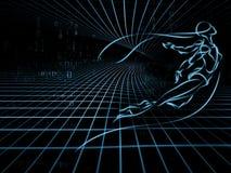 La géométrie virtuelle Photos stock