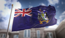 La Géorgie du sud et les îles de sandwich du sud marquent 3D rendant o Image stock