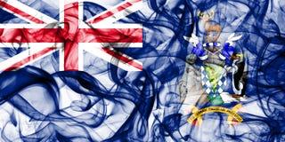La Géorgie du sud et les îles de sandwich du sud fument le drapeau, territoires d'outre-mer britanniques, drapeau de territoire n images stock
