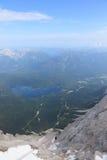 La góndola en la manera abajo del Zugspitze Imagen de archivo libre de regalías