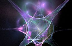 La g?om?trie d'espace abstraite d'illustration de fond d'art de fractale illustration libre de droits