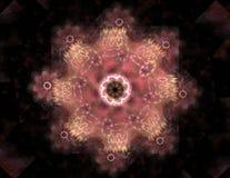La g?om?trie de la s?rie de l'espace Contexte visuellement attrayant fait de courbes conceptuelles de grilles et ?l?ments de frac illustration de vecteur