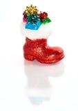 La gaine de Santa rouge avec des cadeaux Image stock