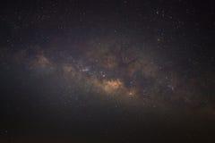 La galassia della Via Lattea di panorama, fotografia lunga di esposizione immagine stock libera da diritti