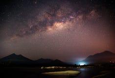 La galassia di modo latteo fotografie stock