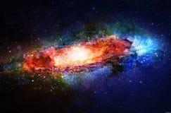 La galassia e le stelle cosmiche, colorano il fondo astratto cosmico royalty illustrazione gratis