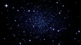 La galaxia enfoca adentro stock de ilustración