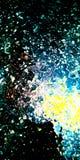 La galaxie donnent sur la photo courante abstraite illustration stock