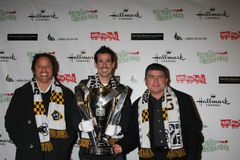 LA Galaxy MLS Cup 2011 arrives at the 2011 Hollywood Christmas Parade Royalty Free Stock Images