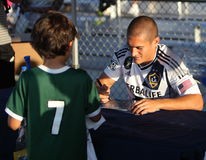 LA Galaxy Soccer Clinic in Pasadena Stock Images