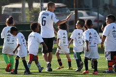 LA Galaxy Soccer Clinic in Pasadena Stock Photos