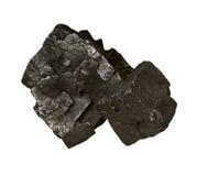 La galena, minerale metallifero di inganna il fondo bianco isolato Immagini Stock Libere da Diritti