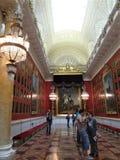 La galería de la guerra de 1812 en la ermita en St Petersburg imagen de archivo libre de regalías