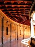 La galería del palacio de Charles V Fotografía de archivo libre de regalías