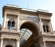 La galería en Milano foto de archivo