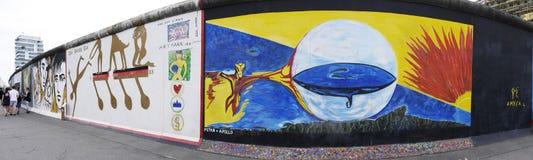 La galerie Eastside de Berlin Wall en Berlin Germany Image libre de droits