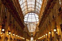 La galleria concentrare di Milano Immagine Stock