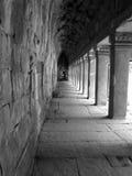 La galleria delle colonne in Angkor Wat Fotografia Stock